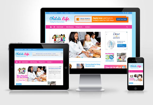 Childslife.ca new responsive website